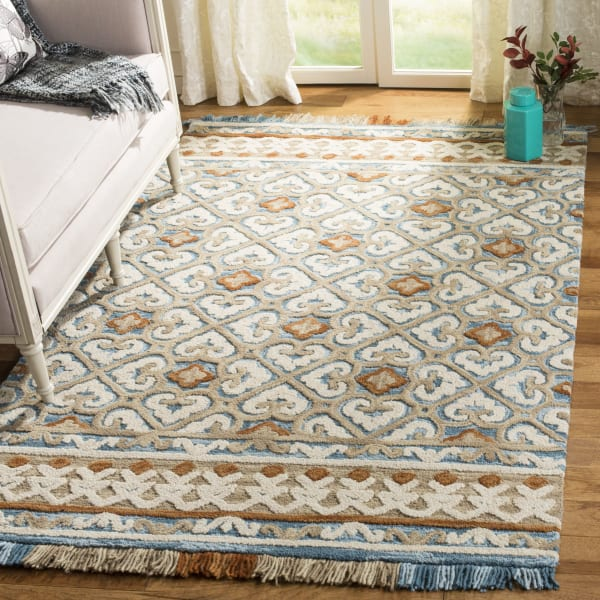 Morgan 420 6' X 6' Square Ivory Wool Rug