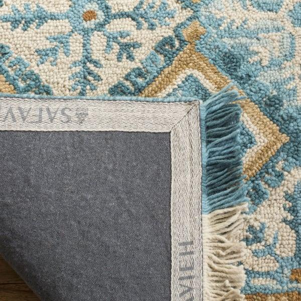 Morgan 421 6' X 6' Square Ivory Wool Rug