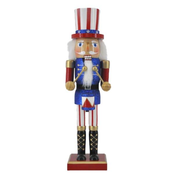 Patriotic Drummer Christmas Nutcracker