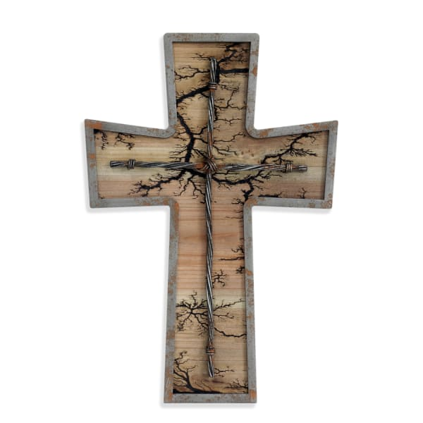 Etch Burning Cross
