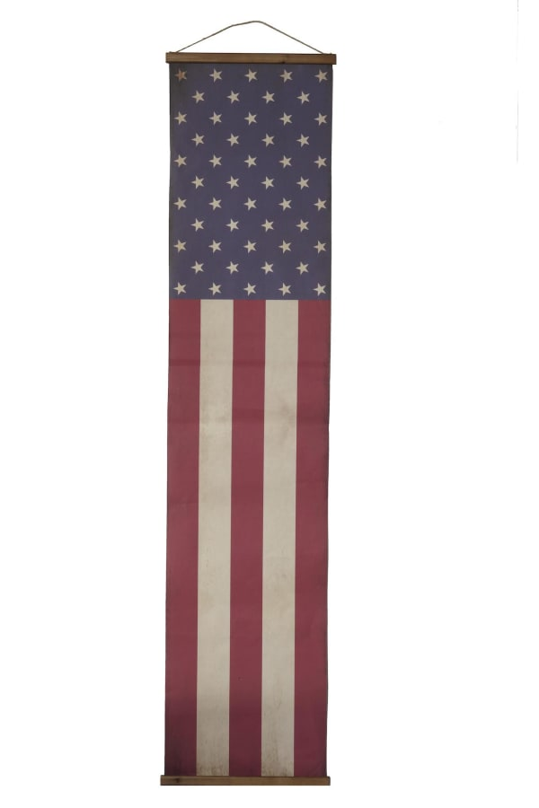 Long American Flag Wall Banner
