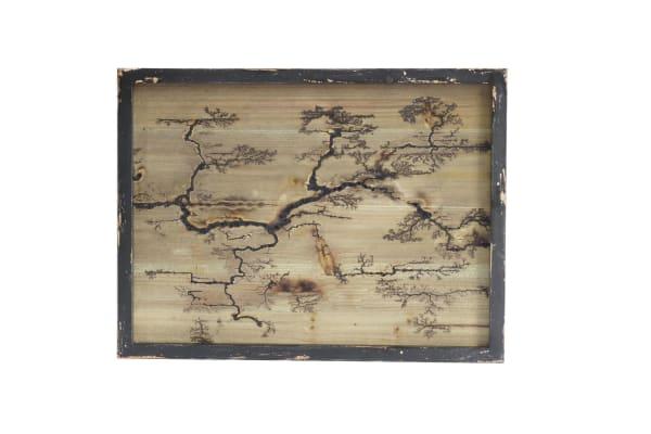Rectangle Wood Burning Wall Art (Black )