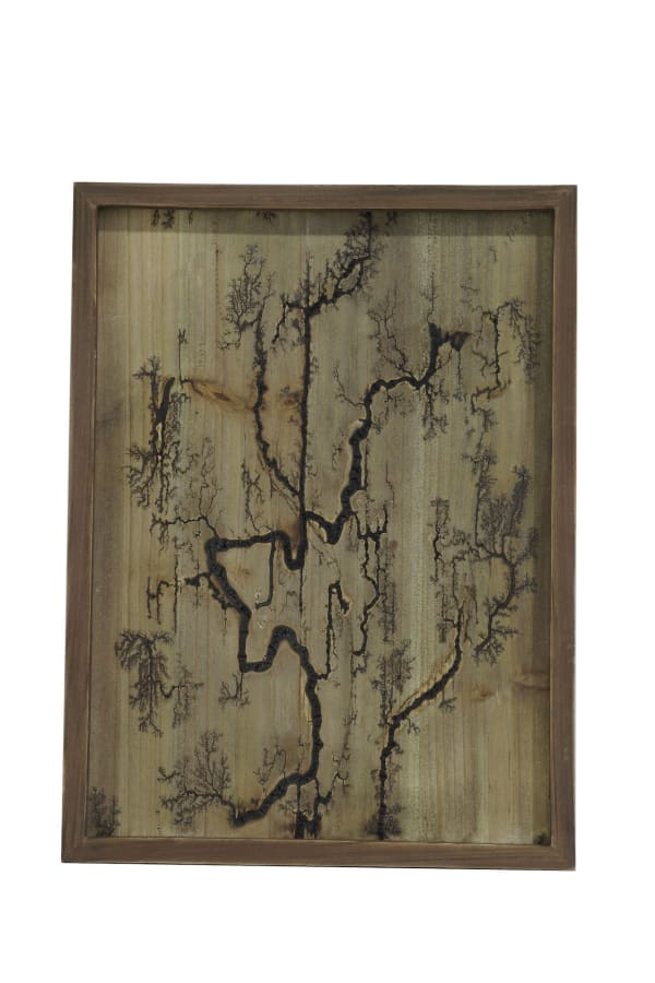 Rectangle Wood Burning Wall Art (Brown )