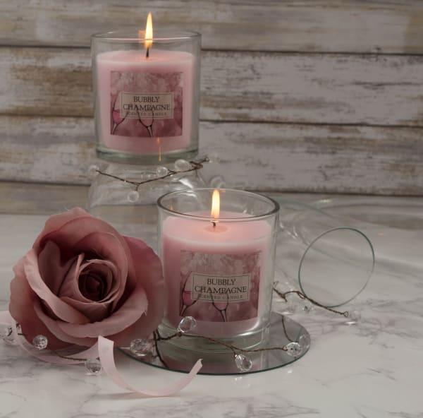 Bubbly Champagne Single Wick Candle (Set of 2)