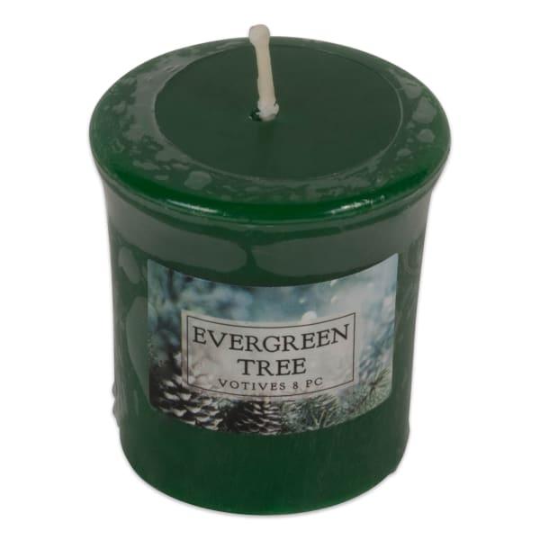Evergreen Tree Votives 8 Pc