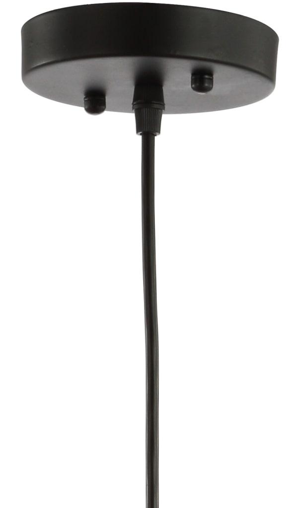 Lotus Adjustable Metal LED Pendant, Brass Gold/Black