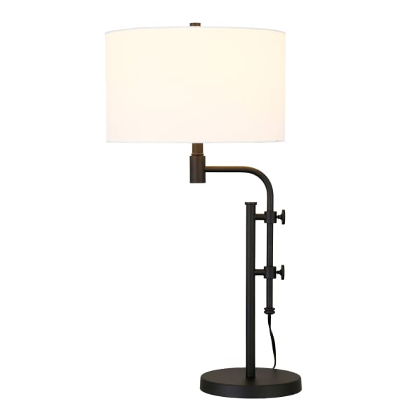 Shelby Height-Adjustable Table Lamp in Blackened Bronze