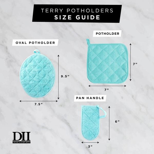 Aqua Terry Potholder (Set of 3)