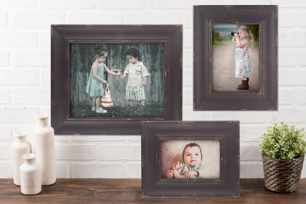 5x7 Barnwood Farmhouse Distressed Picture Frame