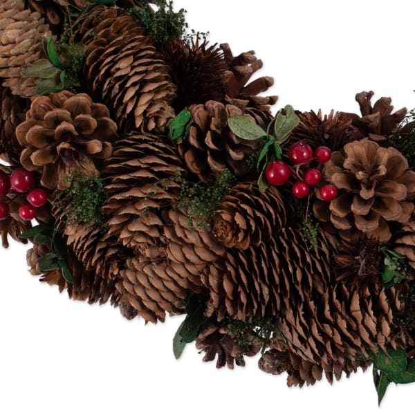 Holiday Berry Pinecone Wreath
