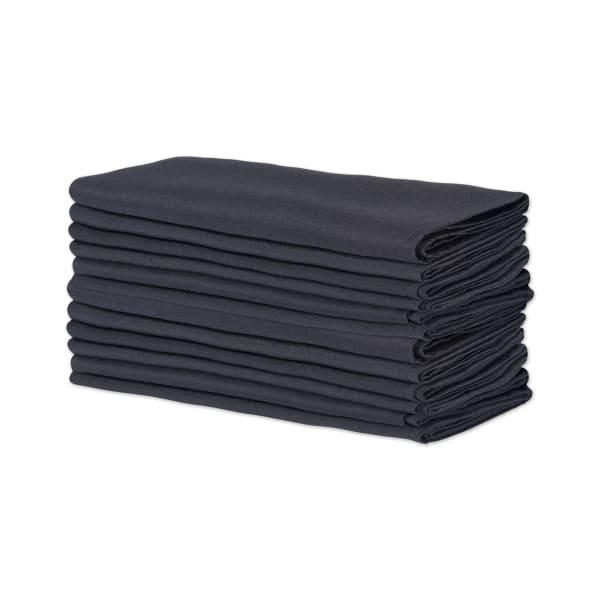Black Commercial Quality 18x18 Napkin Set/12