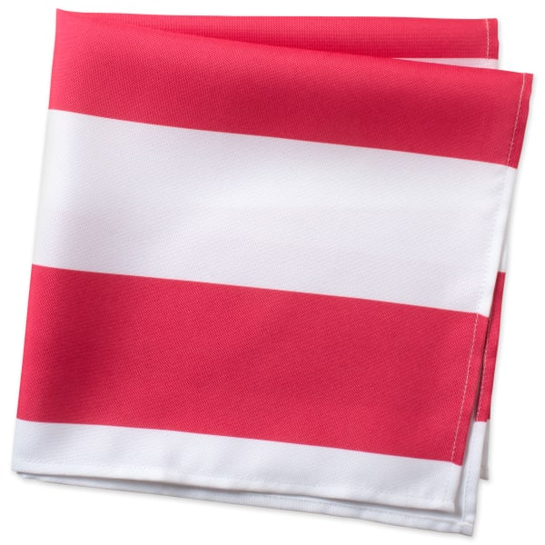Coral Cabana Stripe Print Outdoor Napkin (Set of 6)