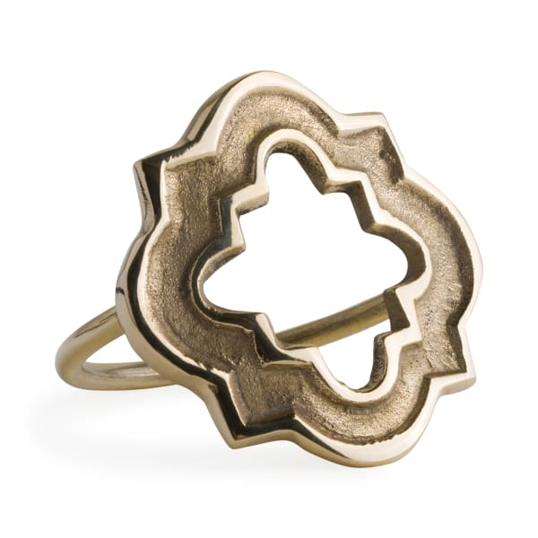 Gold Lattice Napkin Ring (Set of 6)