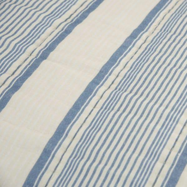 Blue/Ivory 100% Cotton Stripe 106