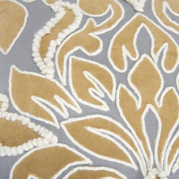 Damask Ivory/Gray Pilllow