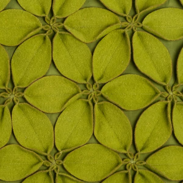 Solid Botanical Petals Lime Green Pillow Cover