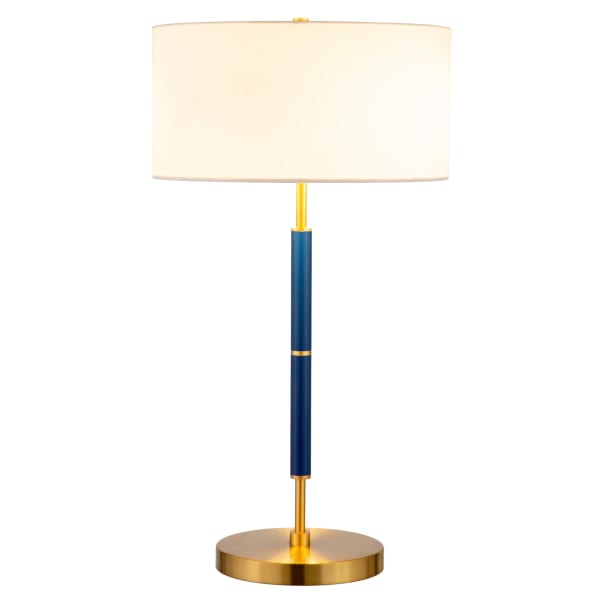 Table Lamp in Blue and Brass