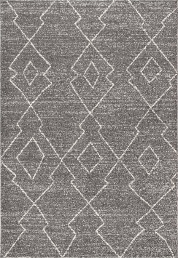Alia Moroccan Beni Souk Gray/Cream 4 ft. x 6 ft. Area Rug