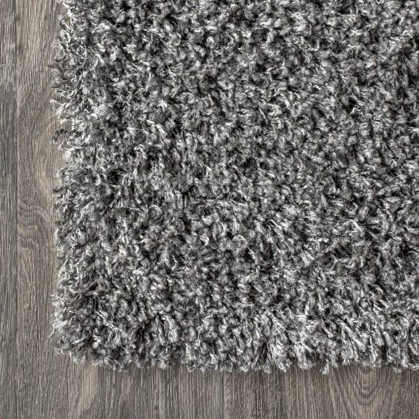 Shag Plush Charcoal Area Rug