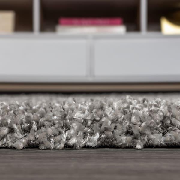 Mercer Shag Plush Tassel Grey 2 ft. x 8 ft. Runner Rug