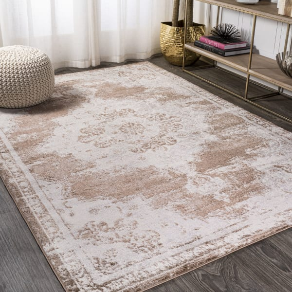 Alhambra Ornate Medallion Modern Brown/Cream 3 ft. x 5 ft. Area Rug
