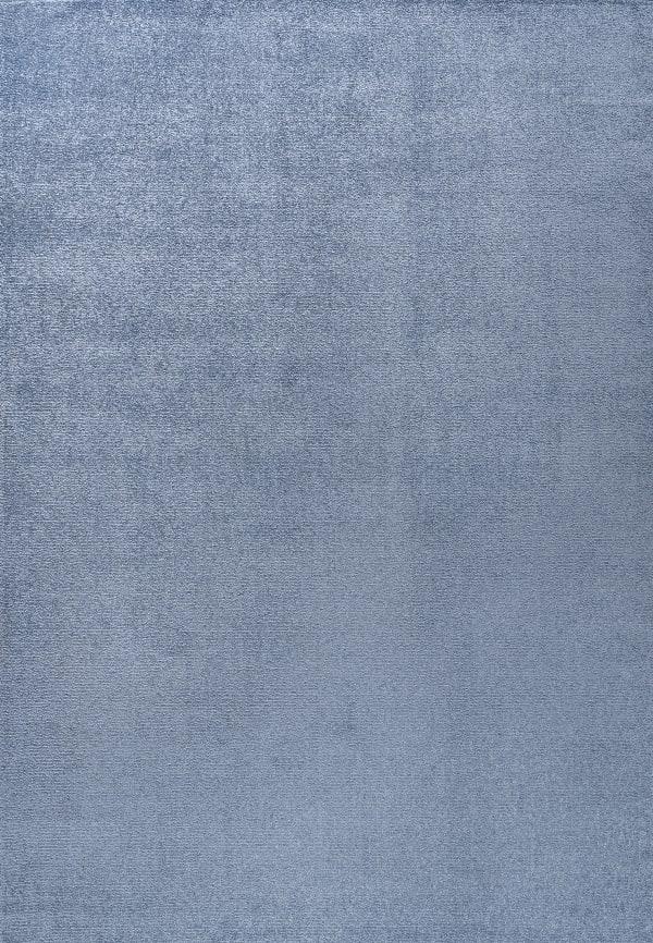 Haze Solid Low-Pile Classic Blue 3 ft. x 5 ft. Area Rug