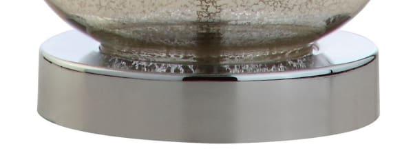 Mini Glass Table Lamp, Silver (Set of 2)
