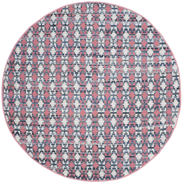 Altman 123 4' X 4' Round Orange Cotton Rug
