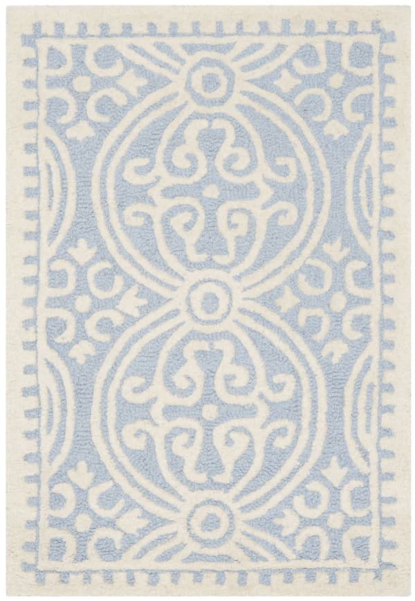 Benson 123 2' X 3' Blue: Sky Rug