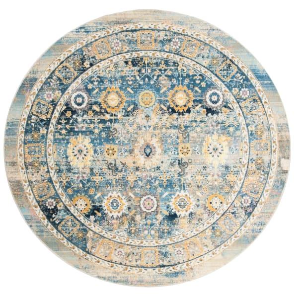 Round Blue Rug 7' Round