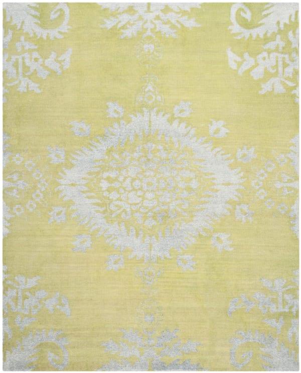Green Wool Rug 6' x 9'