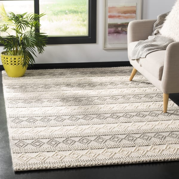 Chipley 750 6' X 6' Square Gray Wool Rug