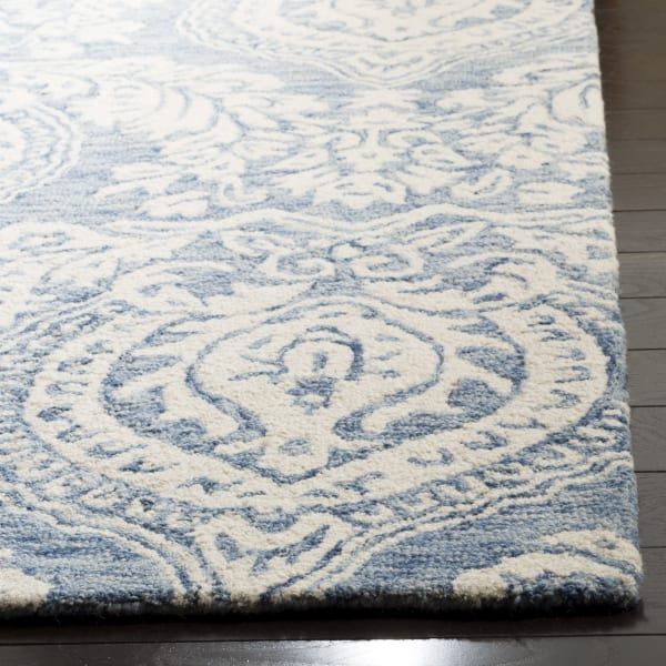 Essence 512 5' X 5' Square Blue Wool Rug