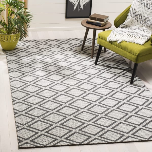 Essence 514 5' X 5' Square Silver Wool Rug