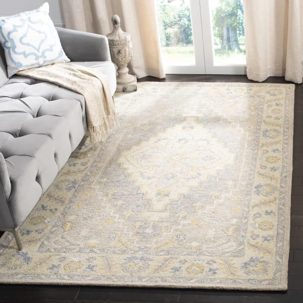 Essence 602 5' X 5' Square Tan Wool Rug