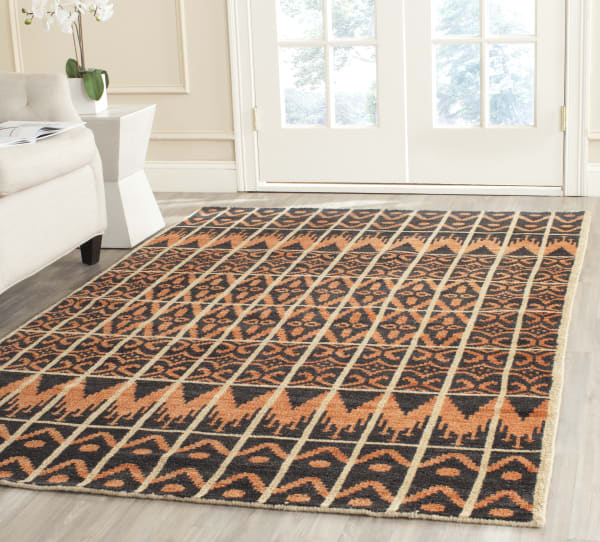 Gypsy 609 5' X 8' Orange Wool Rug
