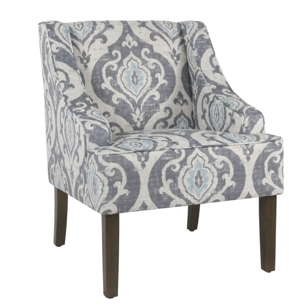 Classic Suri Blue Swoop Accent Chair
