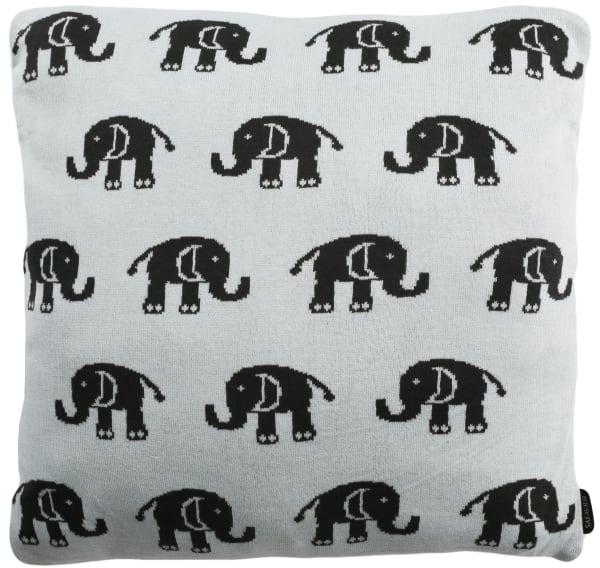 Baby Elephants Sky Blue Pillow