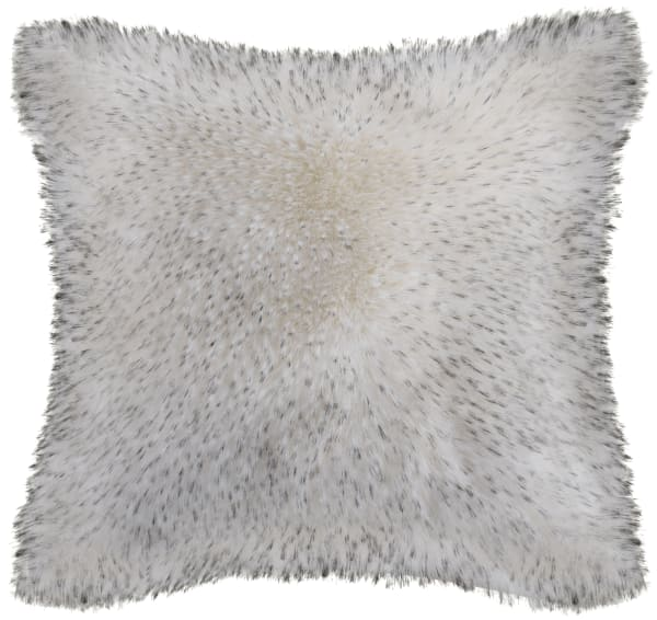 Faux Fur Dalmation Brown Pillow