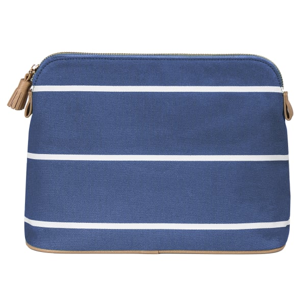 Cathy's Concepts Blue Striped Cosmetic Bag