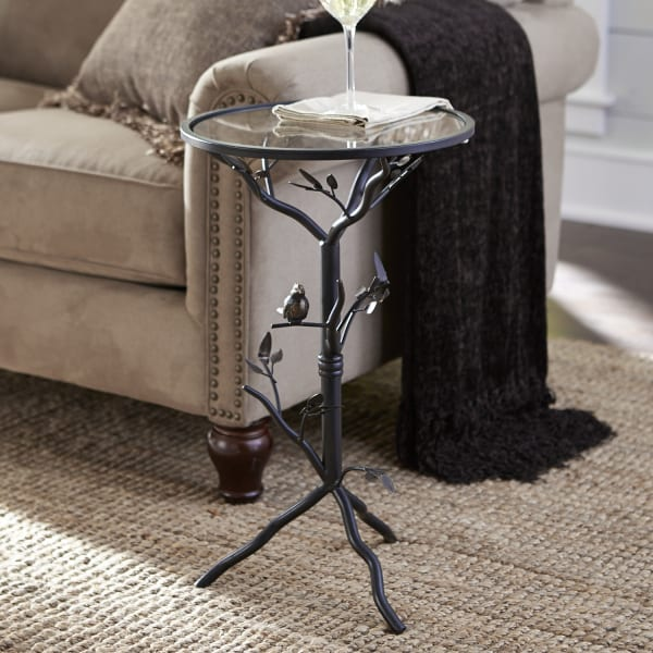Perched Bird Bronze Accent Table