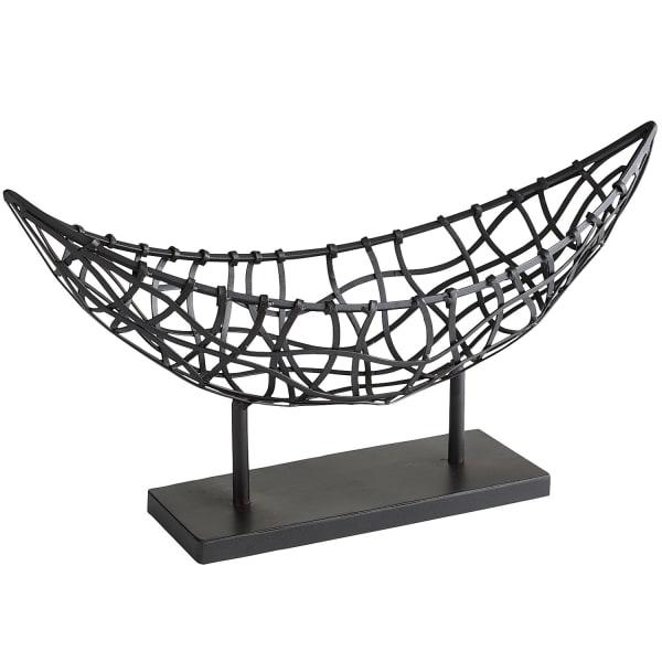 Nomad Black Weave Metal Boat Basket