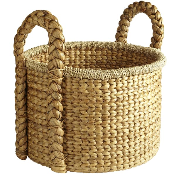 Carson Natural Wicker Round Large Basket