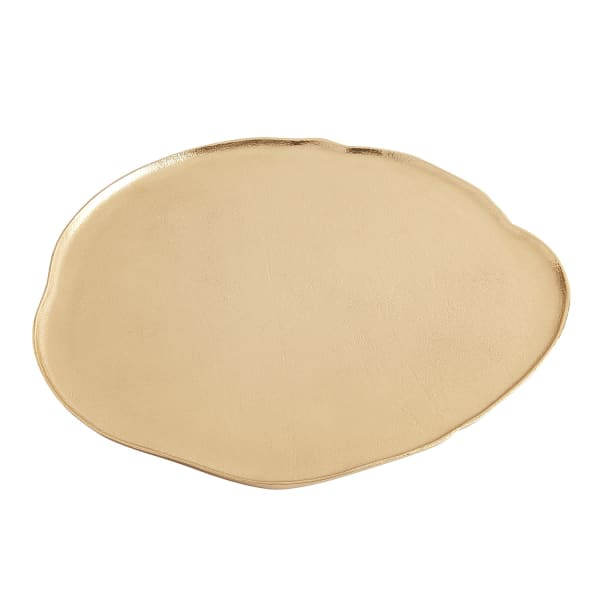 Large Gold Cast Platter