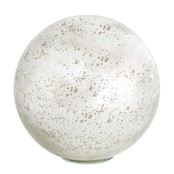 Large Silver Mercury Glass Sphere