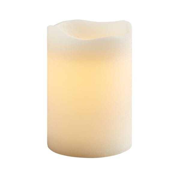 Deco Wick™ LED 4x6 Ivory Pillar Candle