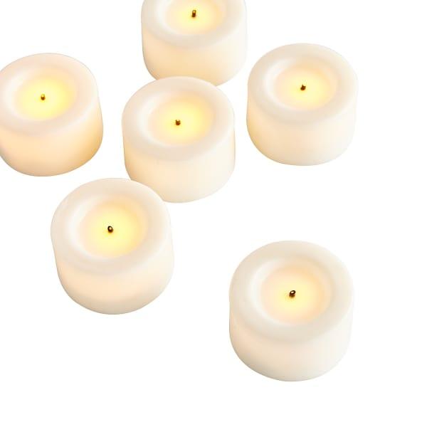 Deco Wick™ White LED Tealight Set of 6