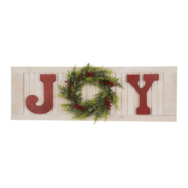 Joy Pine Bough Festive Wall Decor
