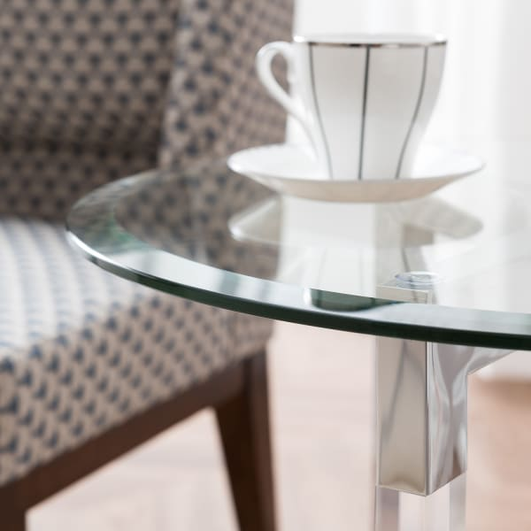 Vina Silver Accent Table