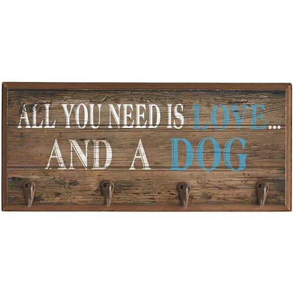 Love & a Dog Wall Hooks